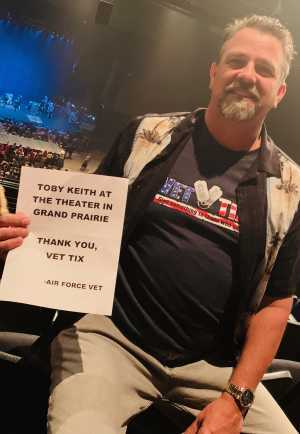 Click To Read More Feedback from Toby Keith W/ Kyle Parks & Jon Wolfe - Theatre at Grand Prairie - Reserved Seats