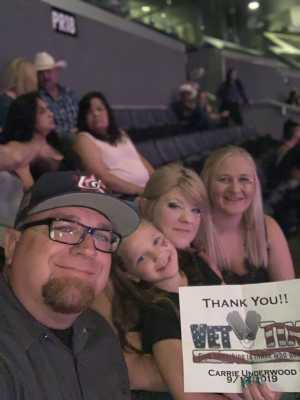 Shayna attended Carrie Underwood - the Cry Pretty Tour on Sep 12th 2019 via VetTix
