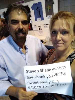 Steven Shane attended Sweet Steely Dan Tour 2019 on Sep 10th 2019 via VetTix