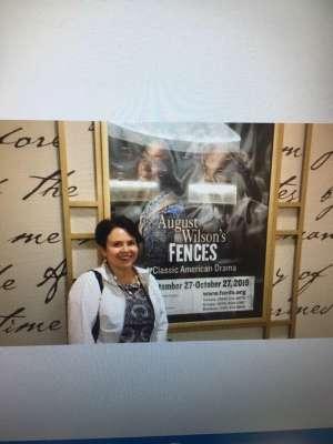 Darlene attended August Wilson's Fences on Oct 8th 2019 via VetTix