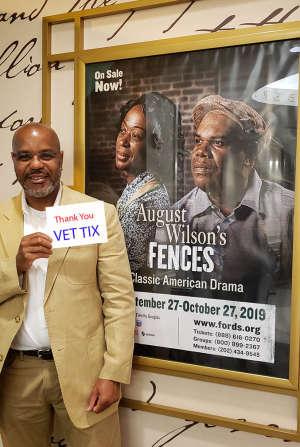 Jaime attended August Wilson's Fences on Oct 8th 2019 via VetTix