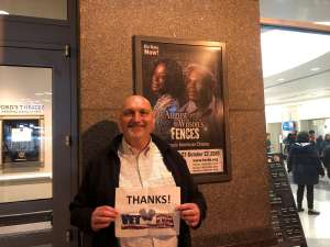 Andrew attended August Wilson's Fences on Oct 8th 2019 via VetTix