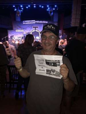 Mike attended Geoff Tate's Operation: Mindcrime on Sep 26th 2019 via VetTix