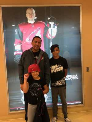 Floyd attended Arizona Coyotes vs. Anaheim Ducks - NHL Preseason on Sep 21st 2019 via VetTix