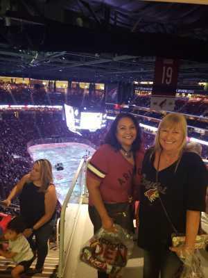 Linda attended Arizona Coyotes vs. Anaheim Ducks - NHL Preseason on Sep 21st 2019 via VetTix