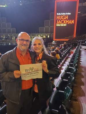 Bruce attended Hugh Jackman: the Man. The Music. The Show. on Oct 12th 2019 via VetTix