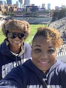 Camela attended Georgia Tech - Pittsburgh - Football on Nov 2nd 2019 via VetTix