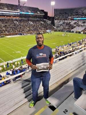 David attended Georgia Tech - Pittsburgh - Football on Nov 2nd 2019 via VetTix