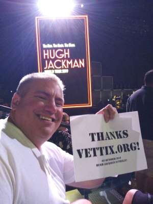 Todd attended Hugh Jackman: the Man. The Music. The Show on Oct 2nd 2019 via VetTix