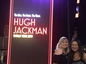 James attended Hugh Jackman: the Man. The Music. The Show on Oct 2nd 2019 via VetTix