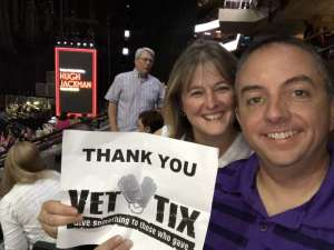 Justin attended Hugh Jackman: the Man. The Music. The Show on Oct 2nd 2019 via VetTix