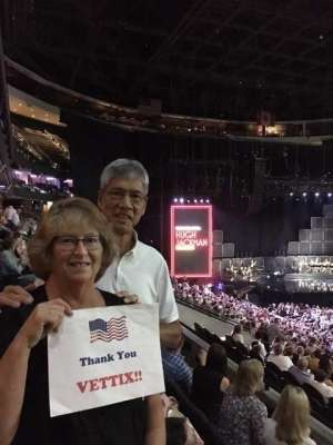 Stan attended Hugh Jackman: the Man. The Music. The Show on Oct 2nd 2019 via VetTix