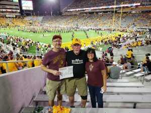 Nathan attended Arizona State University Sun Devils vs. Colorado - NCAA Football on Sep 21st 2019 via VetTix