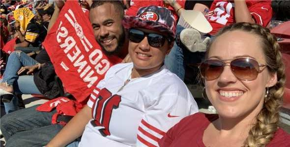 Alyssa attended San Francisco 49ers vs. Pittsburgh Steelers - NFL on Sep 22nd 2019 via VetTix