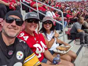 Monita attended San Francisco 49ers vs. Pittsburgh Steelers - NFL on Sep 22nd 2019 via VetTix