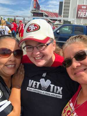 Becky attended San Francisco 49ers vs. Pittsburgh Steelers - NFL on Sep 22nd 2019 via VetTix