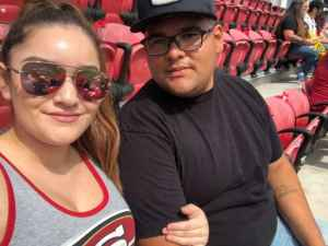 Sara attended San Francisco 49ers vs. Pittsburgh Steelers - NFL on Sep 22nd 2019 via VetTix