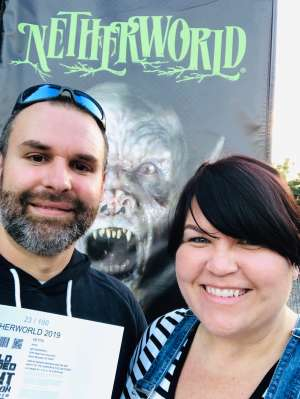 Jerad attended Netherworld 2019 Haunt- Valid on Specific Dates Only * See Notes Before Claiming on Oct 6th 2019 via VetTix