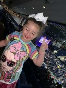 MARK attended Nickelodeon's Jojo Siwa D. R. E. A. M the Tour on Oct 1st 2019 via VetTix
