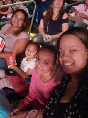 Marlene attended Nickelodeon's Jojo Siwa D. R. E. A. M the Tour on Oct 1st 2019 via VetTix