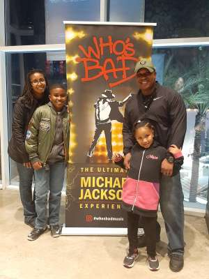 DJ attended Who S Bad the Ultimate Michael Jackson Experience on Dec 19th 2019 via VetTix