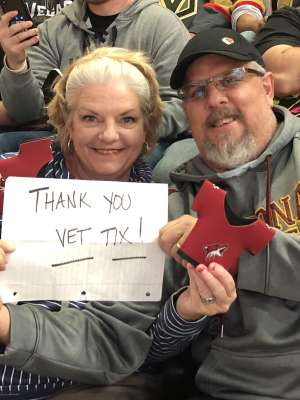 Keith attended Arizona Coyotes vs. Vegas Golden Knights - NHL on Oct 10th 2019 via VetTix
