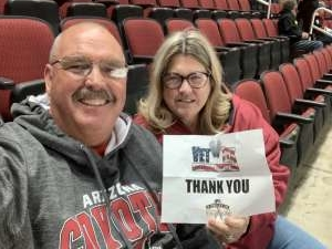 Kyle attended Arizona Coyotes vs. Vegas Golden Knights - NHL on Oct 10th 2019 via VetTix