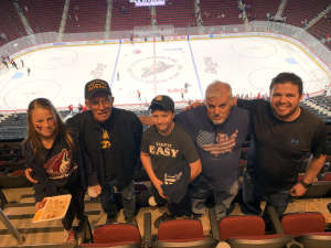 Jeffrey attended Arizona Coyotes vs. Vegas Golden Knights - NHL on Oct 10th 2019 via VetTix