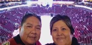 Tyrone attended Arizona Coyotes vs. Vegas Golden Knights - NHL on Oct 10th 2019 via VetTix