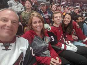 Mikel attended Arizona Coyotes vs. Vegas Golden Knights - NHL on Oct 10th 2019 via VetTix