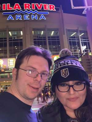 Andrew attended Arizona Coyotes vs. Vegas Golden Knights - NHL on Oct 10th 2019 via VetTix