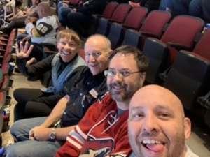 James attended Arizona Coyotes vs. Vegas Golden Knights - NHL on Oct 10th 2019 via VetTix