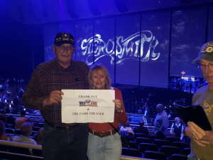 Brock attended Aerosmith- Deuces Are Wild on Oct 1st 2019 via VetTix