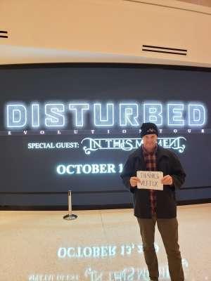 Prosper attended Disturbed: Evolution Tour on Oct 13th 2019 via VetTix