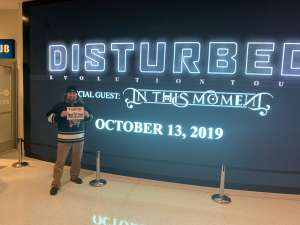 Jeremy attended Disturbed: Evolution Tour on Oct 13th 2019 via VetTix