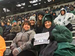 Ray-USAF Veteran  attended Michigan State Spartans vs. Maryland - NCAA Football on Nov 30th 2019 via VetTix