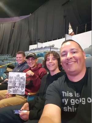 Serjio attended WWE Supershow Live! on Oct 5th 2019 via VetTix