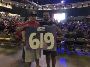 Jerry attended WWE Supershow Live! on Oct 5th 2019 via VetTix