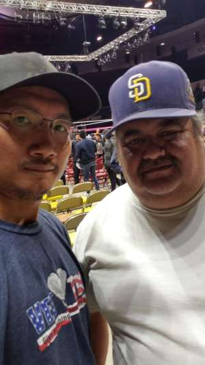 Chanthorn attended WWE Supershow Live! on Oct 5th 2019 via VetTix