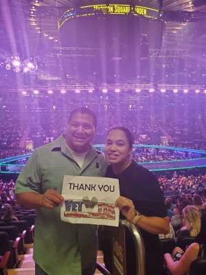 Robert attended Carrie Underwood: the Cry Pretty Tour 360 on Oct 2nd 2019 via VetTix
