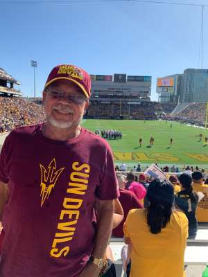 Matt attended Arizona State University Sun Devils vs. WSU - NCAA Football on Oct 12th 2019 via VetTix