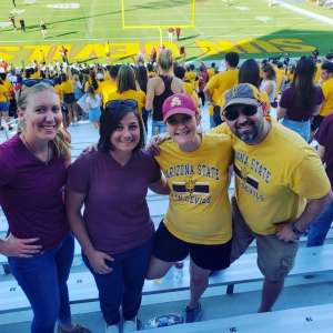 ashley attended Arizona State University Sun Devils vs. WSU - NCAA Football on Oct 12th 2019 via VetTix