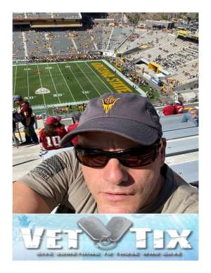 LAWRENCE attended Arizona State University Sun Devils vs. WSU - NCAA Football on Oct 12th 2019 via VetTix