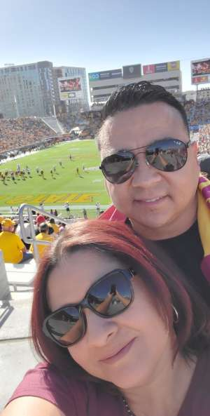 Christopher attended Arizona State University Sun Devils vs. WSU - NCAA Football on Oct 12th 2019 via VetTix