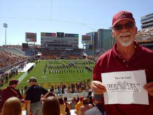 Michael attended Arizona State University Sun Devils vs. WSU - NCAA Football on Oct 12th 2019 via VetTix