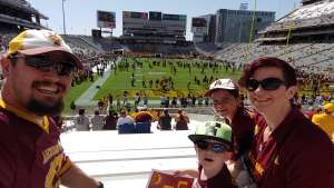 justin attended Arizona State University Sun Devils vs. WSU - NCAA Football on Oct 12th 2019 via VetTix