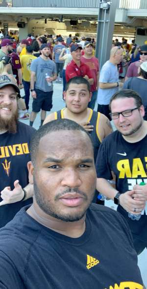 Ty attended Arizona State University Sun Devils vs. WSU - NCAA Football on Oct 12th 2019 via VetTix