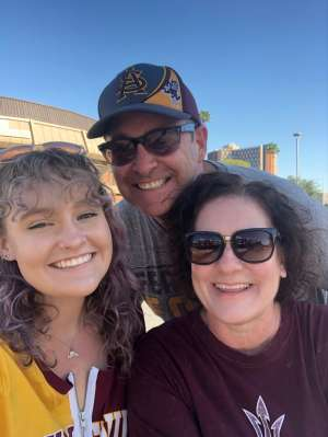 Troy attended Arizona State University Sun Devils vs. WSU - NCAA Football on Oct 12th 2019 via VetTix