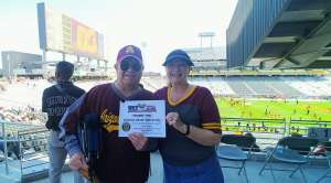 David attended Arizona State University Sun Devils vs. WSU - NCAA Football on Oct 12th 2019 via VetTix