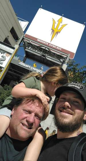 John attended Arizona State University Sun Devils vs. WSU - NCAA Football on Oct 12th 2019 via VetTix